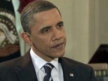 Obama answers questions about storm aid