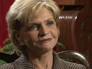 Gov. Bev Perdue talks with WRAL News anchor David Crabtree on Jan. 29, 2012, about her decisiou not to seek re-election.