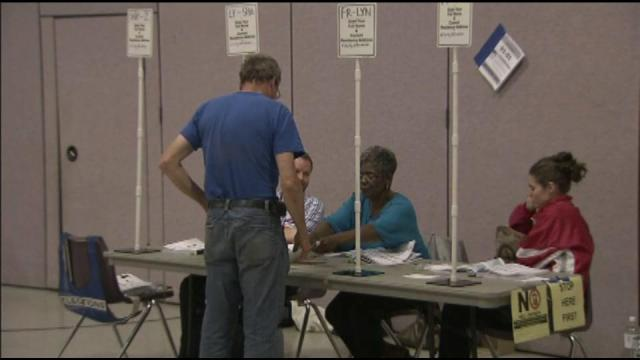Voter turnout slow, steady