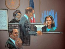 Sketch of Jennifer Palmieri testimony