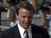 John Edwards walks past the media outside the entrance to the Greensboro federal courthouse on May 29, 2012, where he awaits a jury verdict in his campaign finance fraud trial.