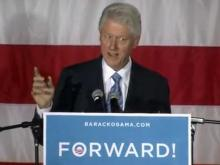 Former President Bill Clinton received loud welcome from a crowd at a campaign rally at Pullen Park in Raleigh Sunday, Nov. 4, 2012, as he criss-crossed the country stumping for President Barack Obama during the final days of the 2012 campaign.