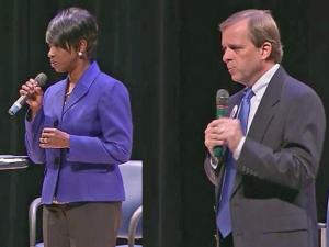Val Applewhite and Nat Robertson are running for mayor of Fayetteville.