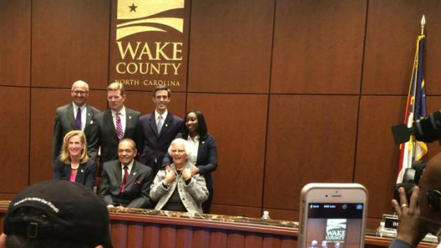 The Wake County Board of Commissioners is made up all of Democrats after the November 2014 election.