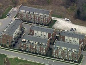The North Shore town homes community on North Carolina State University's Centennial Campus