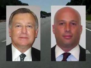 Department of Revenue officials John Sadoff, left, and Alan Woodard live in the Charlotte area but commute to work in Raleigh, and get reimbursed for it. In the past two years, Sadoff was reimbursed more than $42,000, and Woodard $36,000.