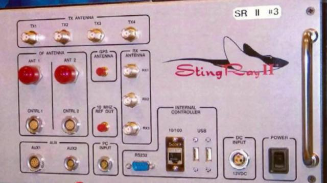 Stingray cellphone data collection device