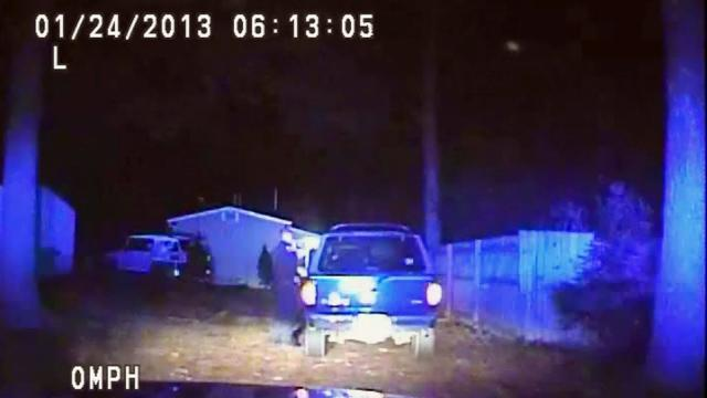 Dash camera video of the morning of Jan. 24, 2013, shows Fayetteville Police Officer Aaron Hunt pulling over Nijza Hagans. Hunt shot and killed Hagans, who was armed, as he tried to flee the scene.