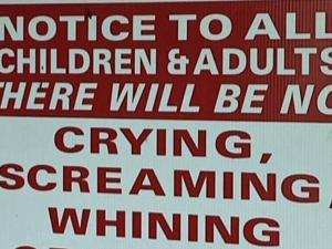 No screaming children allowed at Carolina Beach restaurant