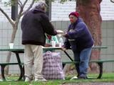 Caught on tape: Homeless man feeds hungry with $100 donation
