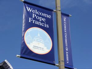 Pope Francis visits Catholic University in Washington, D.C., on Sept. 23, 2015.