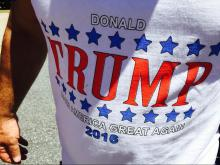 A June 14, 2016, rally in Greensboro by presumptive Republican presidential nominee Donald Trump brought out a crowd of supporters.
