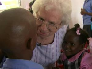 At the Ryan Epps Home for Children in Port-au-Prince, Haiti, the arrival of an 82-year-old Clayton woman is met with excitement and hope. Helen Little, who touched down in Haiti last week for the 58th time in 26 years, says the children are always happy to see her.
