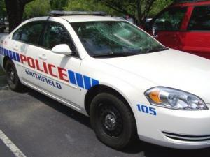 Vandalized Smithfield Police Cruiser (Courtesy of Mickey Lamm)