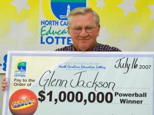 Glenn Jackson, 62, of Knightdale, won a $1 million payout from the North Carolina Education Lottery on July 14.