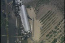SKY5: Tanker Overturns in Chatham County