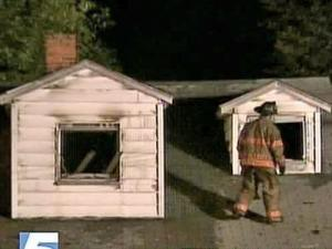 A fire gutted this Durham home early Sunday morning.