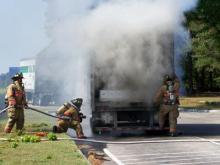 The fire did not impact travel on Interstate 95 and the rest stop remained open for business.