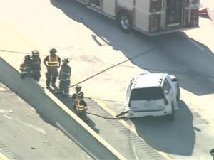 A van crashed on the Inner Beltline, Interstate 440, just after 5 p.m. Monday.