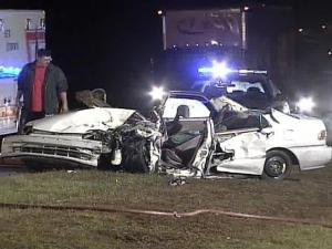 Authorities say alcohol was a factor in a early Thursday morning wreck on Interstate 540.