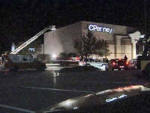 JC Penney at Cary Towne Center was evacuated briefly Monday night after reports of strange fumes inside the store.