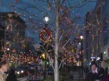 Fayetteville Street lights up for Christmas