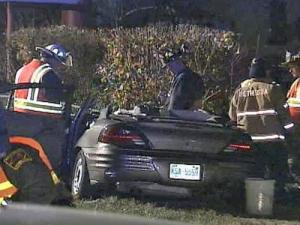 The driver of a pickup has been charged with a DWI after striking a car in which four female North Carolina Central University were riding.