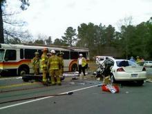 The crash happened along the 3000 block of Blue Ridge Road and Edgemont Drive.