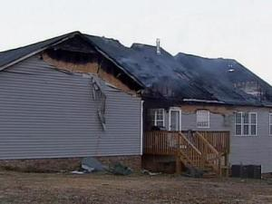 A fire damaged 60 Branding Iron Ct. in Clayton on Sunday, Jan. 27.