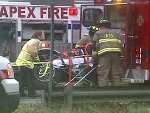 One person died in a wreck involving a dump truck on U.S. Highway 1 in southwestern Wake County Friday afternoon.