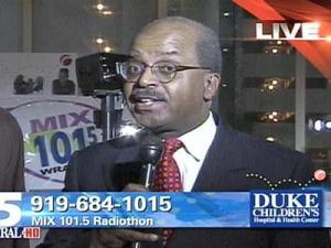 The Mix 101.5 Radiothon to raise support for Duke Children's Hospital began Tuesday morning, Feb. 12, 2008.