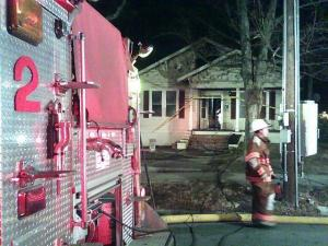A bedroom caught fire in this rental property on West Club Boulevard and Ninth Street. (Photo by Jamie Munden)