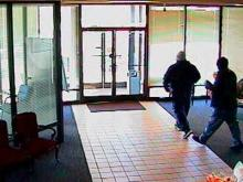 Investigators believe that two black men entered the Lumbee Guaranty Bank, at 6313 Raeford Road, shortly before 9 a.m. Both men brandished handguns, police said.