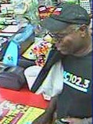 This is an image of the person of interest taken by a surveillance camera.
