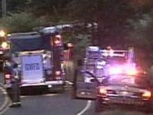 A pickup truck slammed into a tree and a power pole on Old Stage Road Thursday, May 8, 2008.