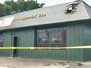 The A-1 Supply Company on Person Street sustained heavy damage during an early morning fire on Friday, May 23, 2008.