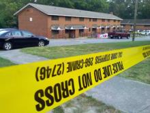 A boy was shot in the head on Friday, June 13, 2008, at the Walnut Terrace apartment complex off Walnut Street in Raleigh.