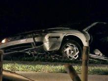 Two people sent to hospital after police chase