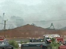 Robbins textile mill burns for hours
