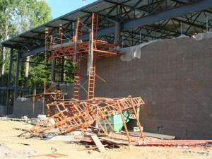 Damage to Clayton community center construction site (Photo courtesy of Clayton Police Department)