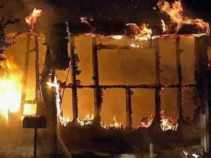 The fire started at a single-wide mobile home on West Stallings Street in Clayton around 1:20 a.m. Friday, Sept. 12, 2008.