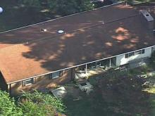 This picture from Sky 5 shows the house on Meadowbrook Road in Benson where deputies found Annie Bynum's body.