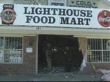 Pickup crashes into Selma store