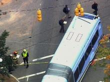 Police are on the scene of a bus accident near UNC campus