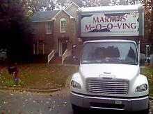 Crews load moving van at Cooper house