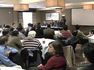The North Carolina Indian American Political Action Committee held a rally in Morrisville on Dec. 13, 2008 to denounce recent violence in Mumbai.