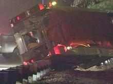 Raleigh fire truck crashes, slams into tree
