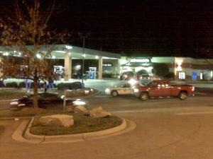 Apex police said an altercation started in a McDonald's inside an Exxon gas station, at Lake Pine Drive and U.S. Highway 64, around 6 p.m. Friday, Jan. 23, 2009. The fight spilled out into the parking lot, and a person was shot behind a nearby Blockbuster store.