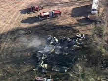 Sky5 flies over Hoke County wildfire
