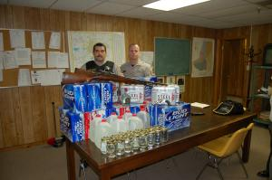 Deputies seized 20 cases of beer, seven gallons of corn liquor, 16 pints of corn liquor, 2 shotguns and a .32 caliber revolver from the home of Johnnie Lee Jones, 70, of 104 Timothy St.